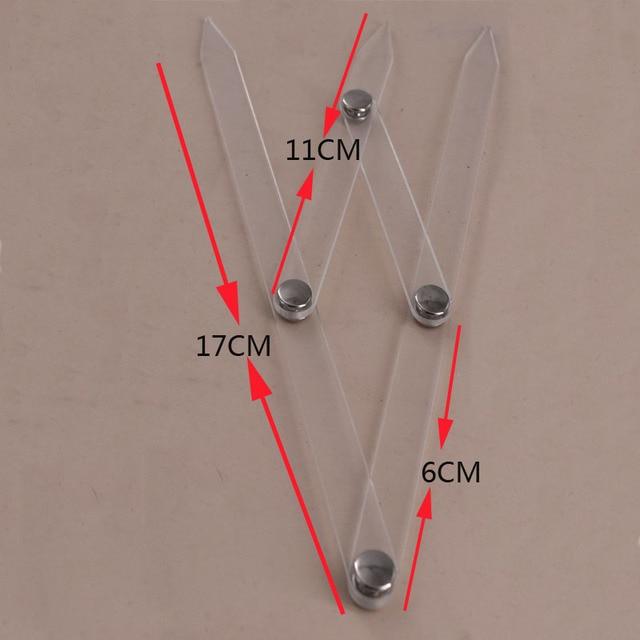 Eyebrow Rulers 5pcs Acrylic Permanent Makeup Ruler Eyebrow Shaping Stencil Tools Ratio Divider Ruler 1