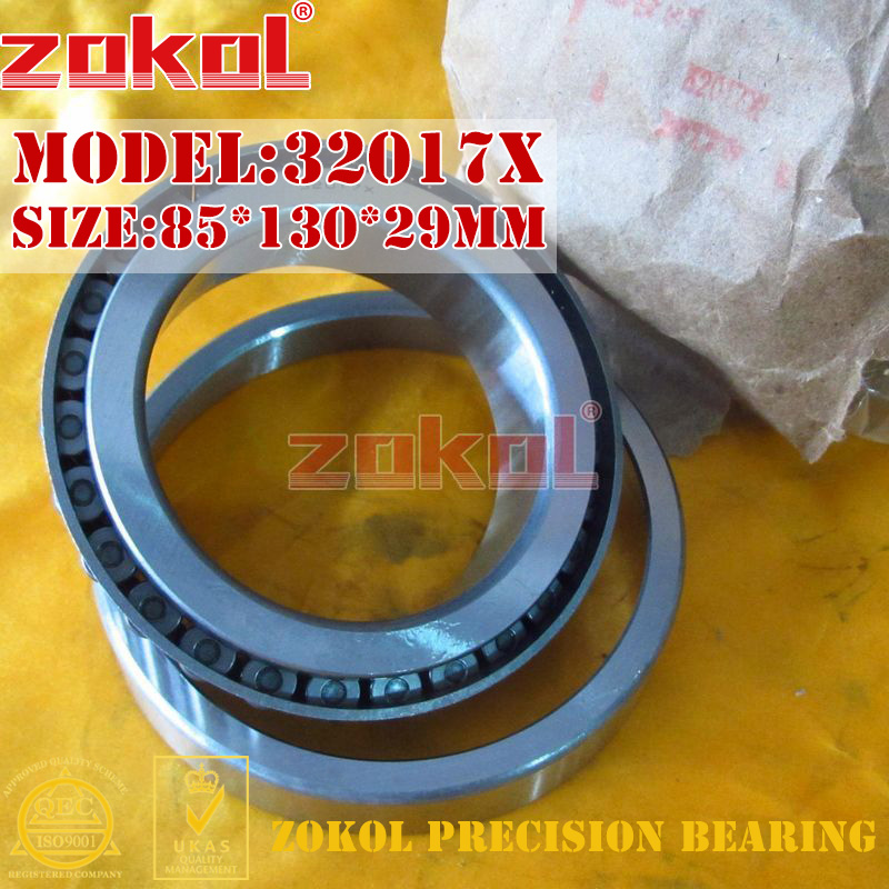 ZOKOL 32017 X bearing 32017X 2007117E Tapered Roller Bearing 85*130*29mm zokol bearing 31310 27310e tapered roller bearing 50 110 29 5mm