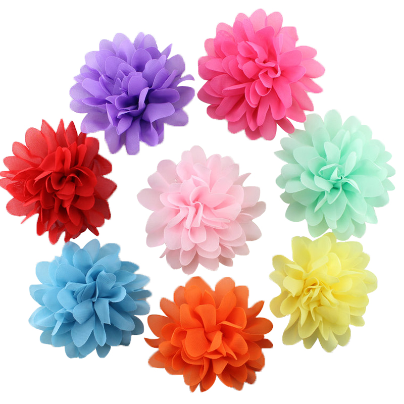 10pcs/lot  Cute Big Chiffon Flower Girl Hairpin Headdress Hairpin  Hair barrettes Clip Kids Hair Accessories 7 pairs lot promotion hairpin hairclip headwear girl hair accessories kids hair clip girl christmas gift