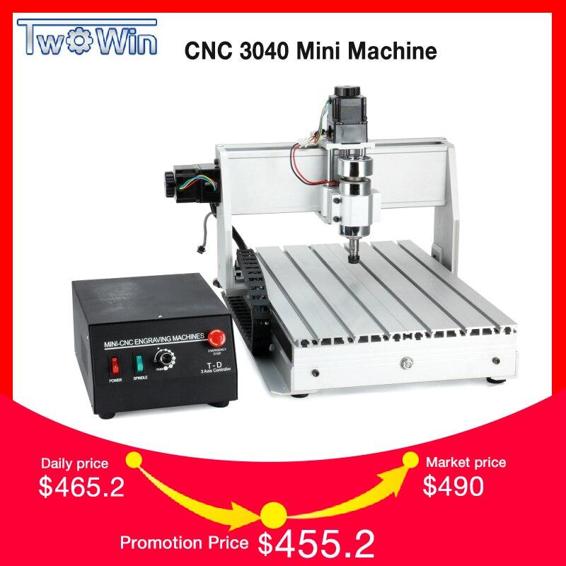 300 W Três-eixo Tópicos Parafuso CNC Router Gravador Gravura de Trituração de Perfuração Máquina de Corte CNC 3040 T-D