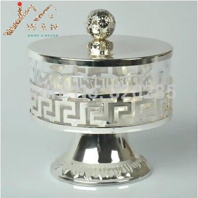 Frete grátis único estilo europeu banhado a prata metal & acrílico sal/açúcar/chá/café frascos, talheres de alta qualidade, louça