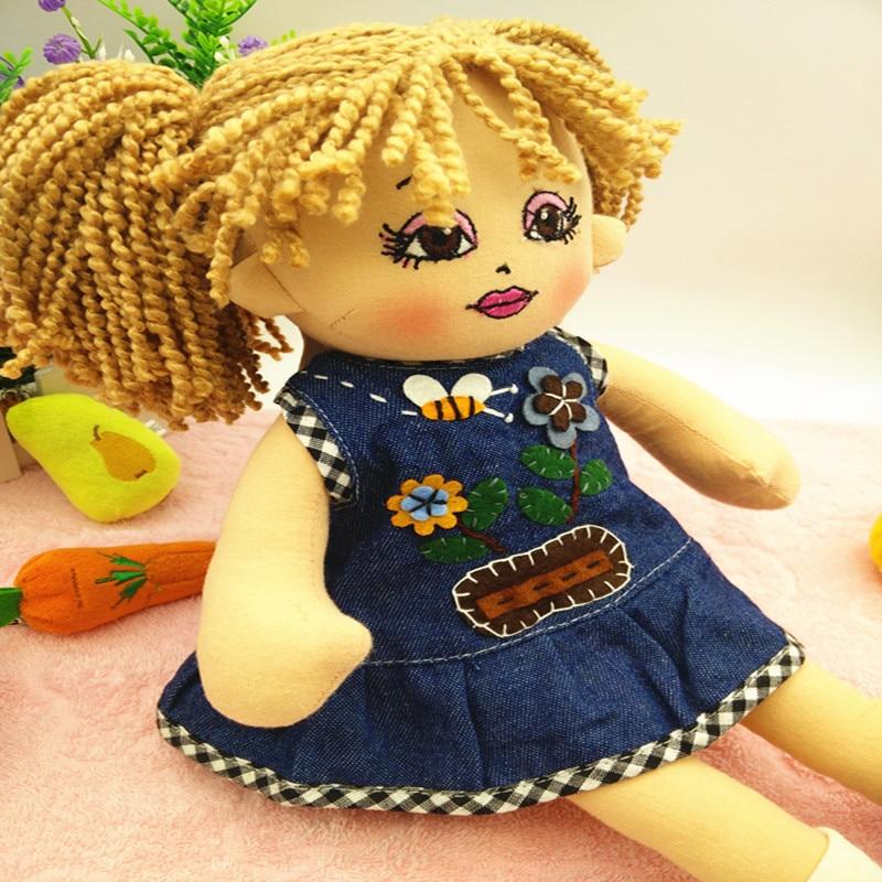 בובות רך צעצועי בובות אופנה בובת סמרטוטים ממולאים התינוק נולד עם בד קטיפה בובה מתנה לילדים