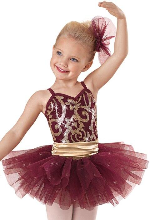 2018 New Ballet Tutu Costume Girls Ballerina Ballet Dress Children Stage Proformance Dance Leotard Dancewear B 2373
