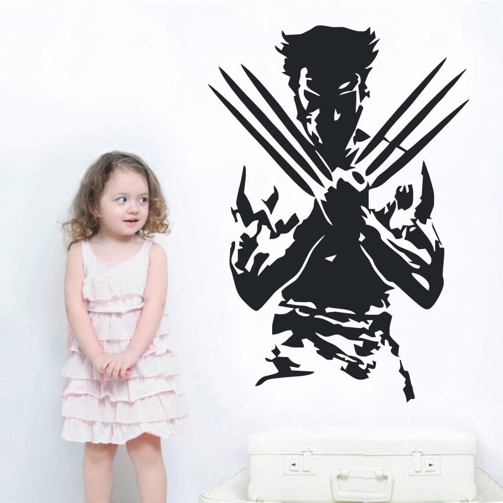 Wolverine Inspired Design Hero Home Decor Wall Art Decal Vinyl Sticker