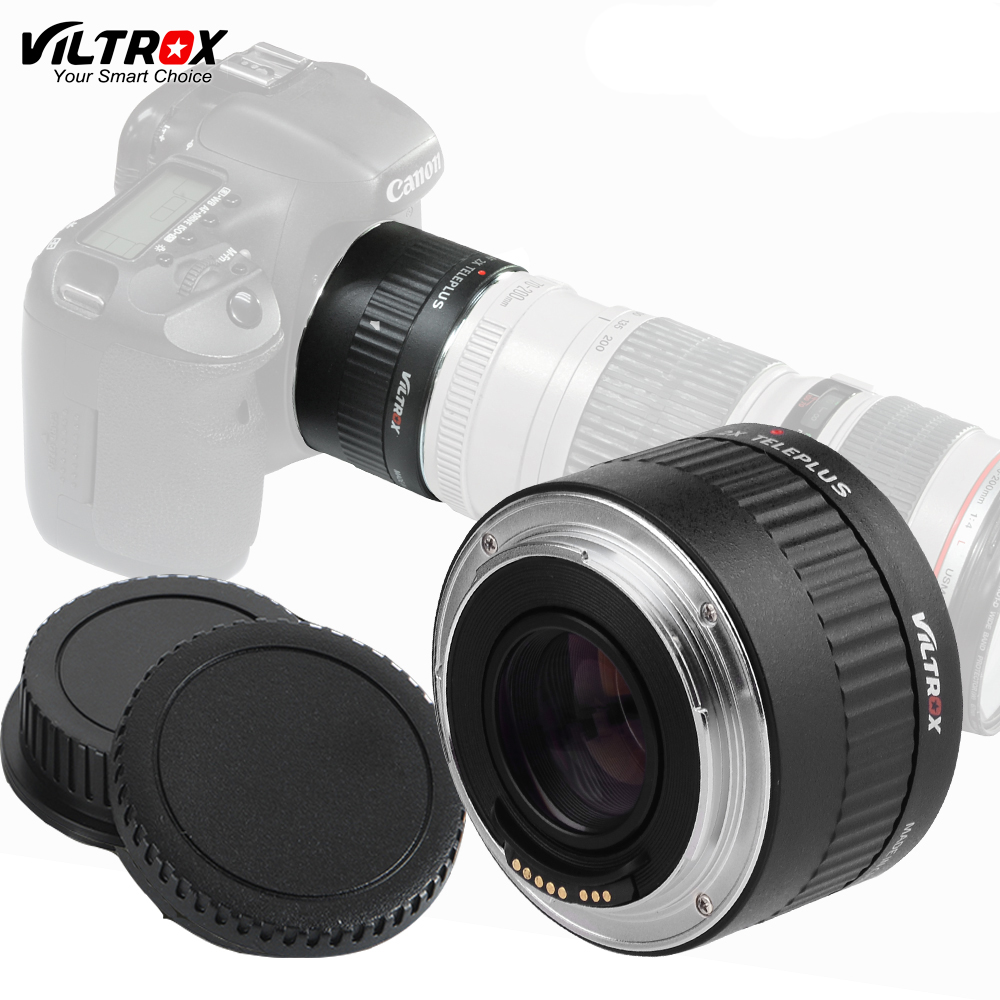 Viltrox C-AF 2X Teleplus AF Auto Focus Teleconverter 2.0X Extender Magnification Lens Adapter For Canon EOS EF Lens (Black) af auto focus electronic adapter ring ef nex for canon ef bayonet lens transfer to sony nex body support full frame camera a7 a