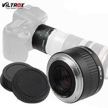 Viltrox C-AF 2X Teleplus AF Auto Foco Ampliação 2.0X Teleconverter Extender Adaptador de Lente Para Canon EOS EF Lens (preto)