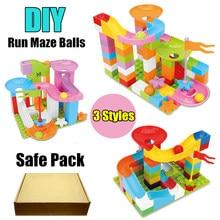New Big Size Building Brick Funnel Slide bricks Marble Race Run Maze Balls Track fit Building Blocks kid gift diy toy цены
