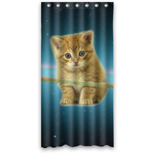 Galaxy Space Cat Shower Curtain Waterproof Polyester Bathroom CurtainShower Rings IncludedChina