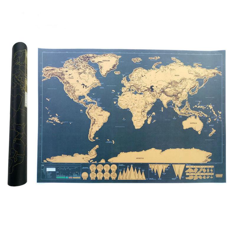 Ξυστό Χάρτης της Παγκόσμιας Έκδοσης - Διακόσμηση σπιτιού - Φωτογραφία 2