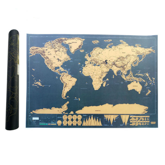 Scratch map of the world travel edition deluxe scratch off map scratch map of the world travel edition deluxe scratch off map personalized world map poster black gumiabroncs Choice Image