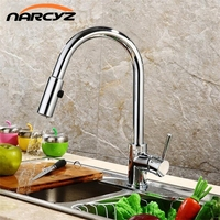 Best Quality Wholesale And Retail Pull Out Brass Low Pressure Kitchen Faucet Black Colour Deck Kitchen