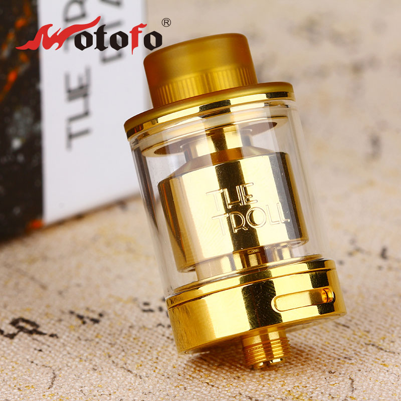 Original WOTOFO The Troll RTA Tank 5ml The troll Atomizer Dual coil Huge Vapor One post Deck design Fun Vaping Tank