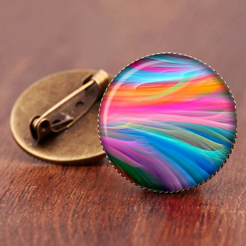 SUTEYI 2017 Sale Charming Astronomy Geek Jewelry Sci-fi Science Galaxy Brooch Gift Wholesale Outer Space Nebula Pture Brooches 4