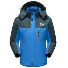 Men Jackets Sports Outdoor Mountaineering fishing Clothes Hooded Plus Velvet Thicken Fishing Clothing Waterproof Windbreaker