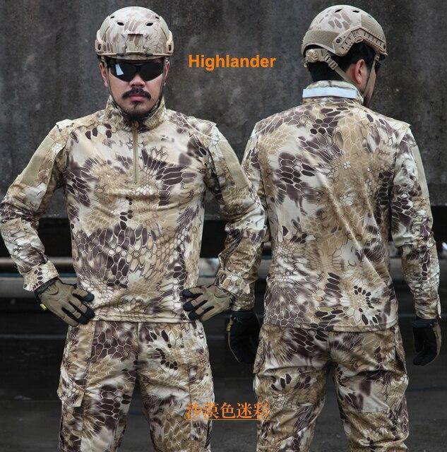 Highlander 1 4 Zip Ripstop Camo Tático de Combate camisa de manga longa  Camisa camisa dfa9e095d4