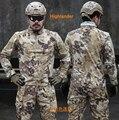 Highlander 1/4 Zip Ripstop Camo Tactical Combat camisa de manga larga Camisa Typhon policía Combat shirt