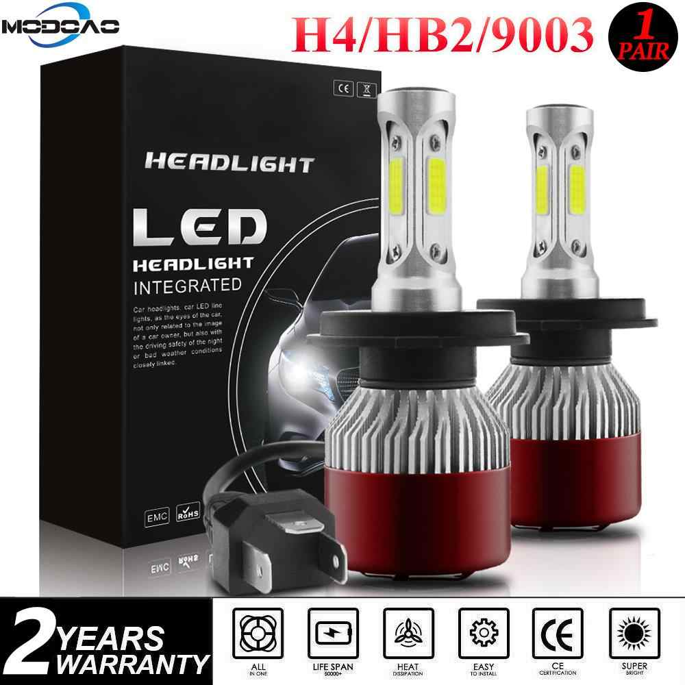 144W 14400LM H4 Car Headlight LED Head Bulb 6000K Hi-Lo Auto h4/9003/HB2 High-Low Beam 360 degree 12V 24V Waterproof Light