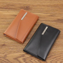 Zolanc Cow Leather Credit Card Holder Clips Wallet purse Business Card Case 11 Slots Hasp Credit Card Bag