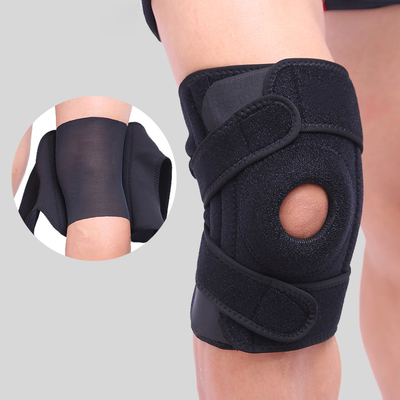 AIBOULLY Four Spring Support EVA Breathable Sports Knee Pads Brace Support Protect Knee Protector Kneepad for basketball running