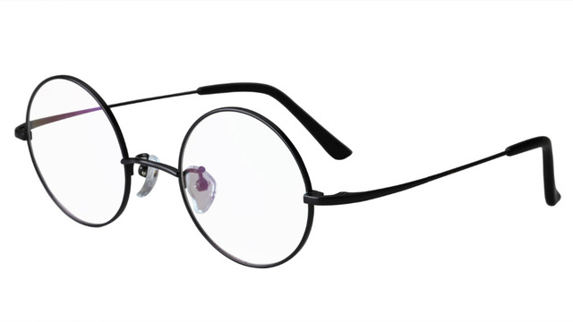 c5478669045 Agstum Luxury Pure Titanium 44mm Round HARRY POTTER Vintage ultra-light Eyeglasses  Frame Spectacles Prescription