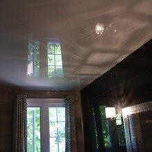 Белая глянцевая пленка потолок на кухне/украшение кухни с белой глянцевой стрейч-пленкой потолка