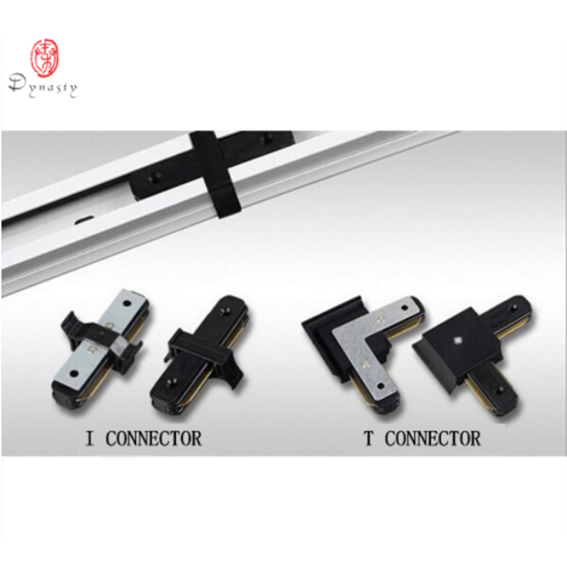 Track Line Connector Aluminum I Shape Connector T Shape Connector LED Spotlights Rail 2 Wire Connector High Quality Black White in LED Downlights from Lights Lighting
