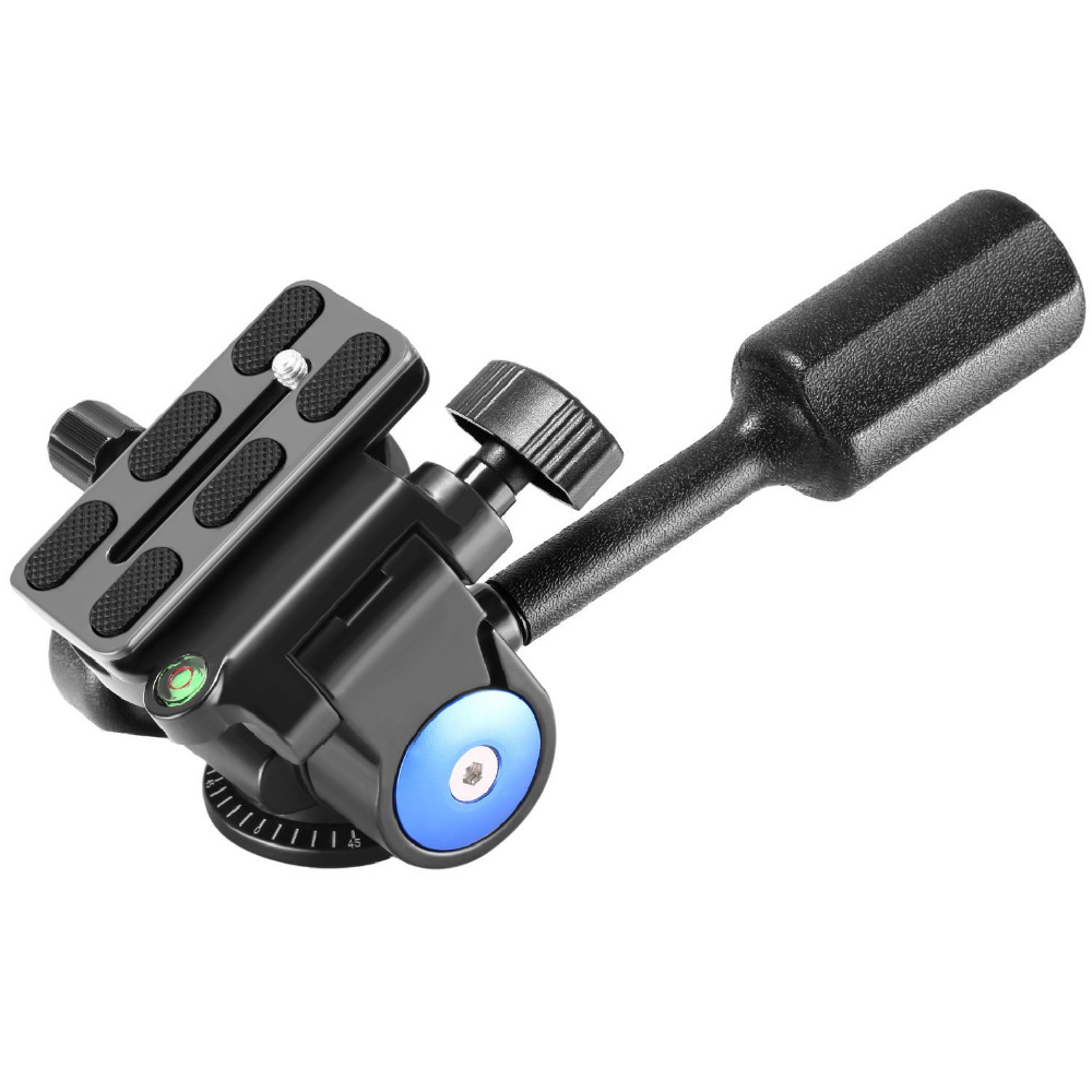 Neewer Single Handle Tripod Ball Head Three-Dimensional 360 Degree Rotation for Tripod Monopod Camera Bracket Light Stand 360┬░ two handle hydraulic damping three dimensional tripod head for camera black
