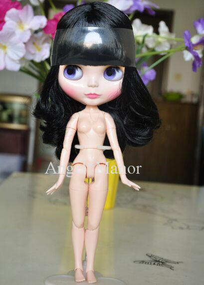 ФОТО jointed doll,Nude blyth doll with jointed body, light black short hair, Valentine's day present, GP09