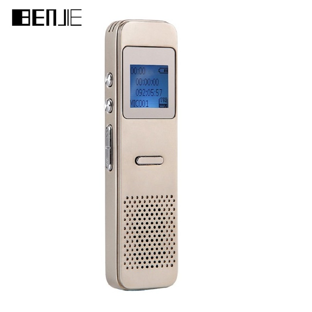 BENJIE Voice Operated Recorder Digital Voice Recorder Gold Silver Recording Pen 8GB MP3 Player With Loudspeaker French Italian