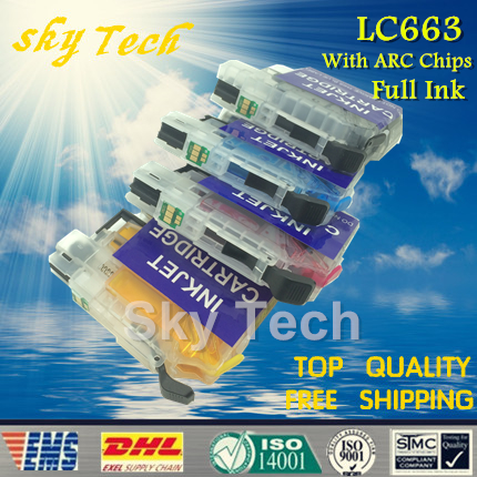 Full Ink Refillable Cartridge suit for Brother LC663 ,LC-663 For Brother MFC-J2320 MFC-J2720 , with ARC Chips