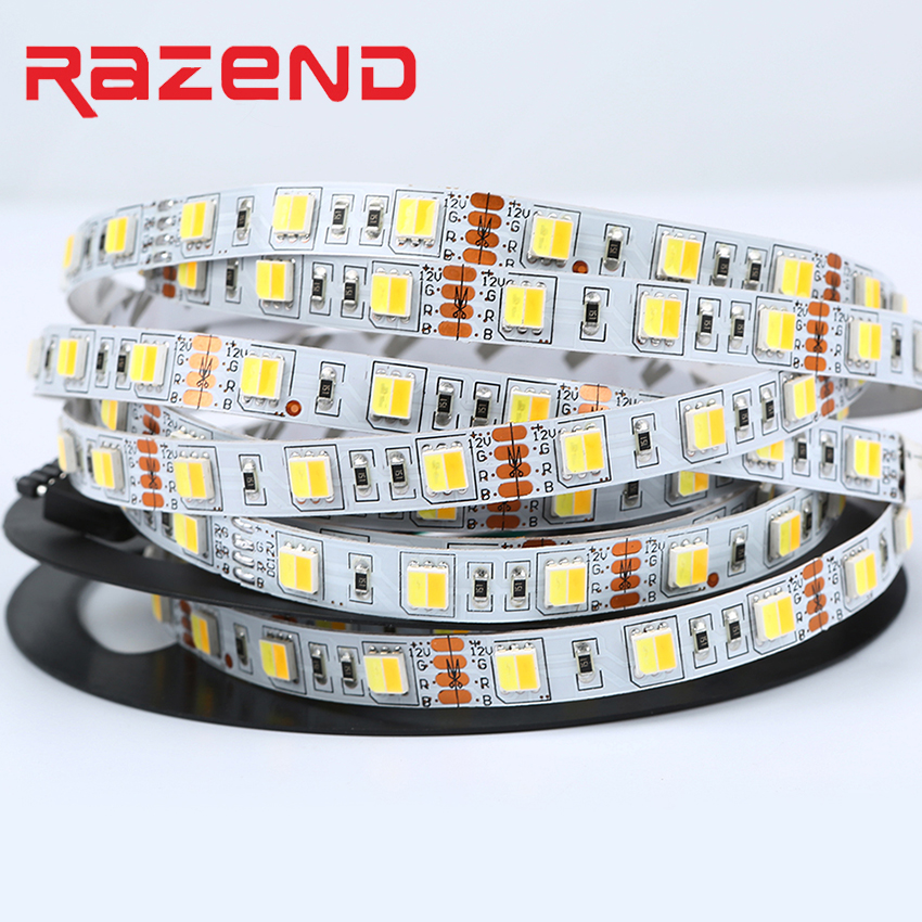 Dual White CCT Color Temperature LED Strip 5050 DC12V 5m One Chip With Warm White & Cold White,60LED/m