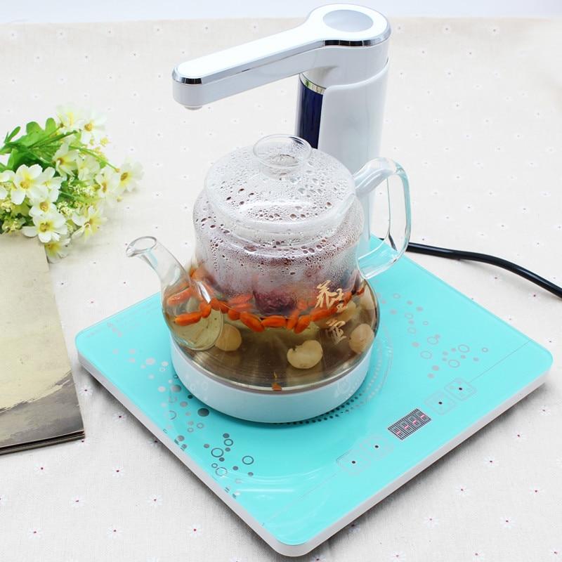 Ev Aletleri'ten Elektrikli Ketıllar'de Elektrikli su ısıtıcısı Tam otomatik üst elektrikli cam fıskiye çay kazanı Aşırı Isınma Koruması title=