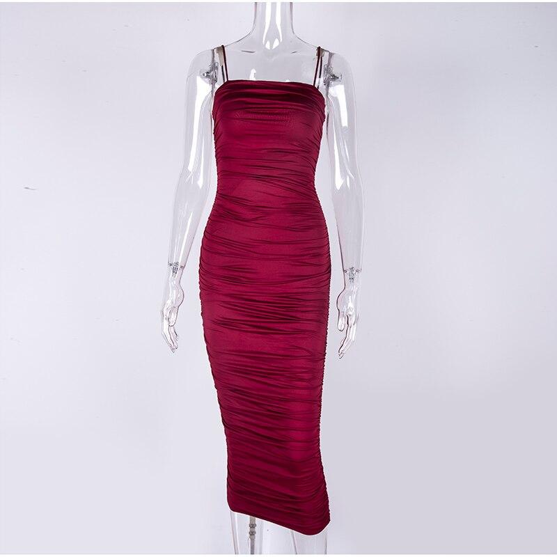HTB1xzSQXAT2gK0jSZPcq6AKkpXaO - NewAsia 2 Layers White Summer Dress Women 2020 Elegant Straps Ruched Maxi Dress Pink Long Dress Sexy Dresses Party Night Robe
