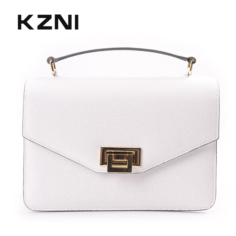 KZNI Bags for Girls Ladies Handbags Genuine Leather Bag Women Designer Handbags High Quality Purse Women Sac Femme Pochette 9055 kzni ladies purse small crossbody bags for women flower handbag purses and handbags party bags for girl sac femme pochette 18002