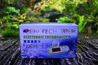 Resun ET-Màu Xanh Lá Cây LCD Điện Tử Fish Tank Nước Detector Nhiệt Kế Aquarium Kỹ Thuật Số Nhiệt Kế Nhiệt Với Gói Bán L