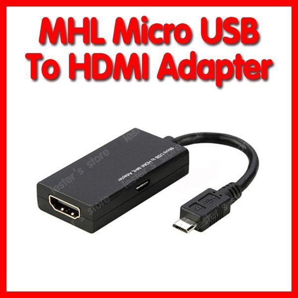 FREE SHIPPING!!! MHL Micro USB to HDMI Adapter Cable for HTC EVO 3D G14 sensation Samsung Galaxy