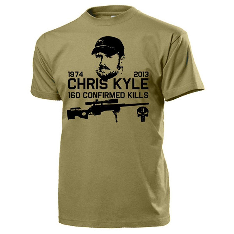 2019 New Summer Cool Tee Shirt Chris Kyle American Sniper Navy Seal US Iraq Texas Hero 160 Kills Army Skull Funny T-shirt