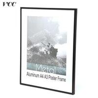 Vccフレーム壁アート装飾、ブラックデラックスアルミa4 a3ポスターフレーム用壁掛け、金属フォトフレーム、証明書フレーム