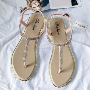 Image 3 - לקדוח מים חדשים ב 2018, בנות עם דירות בקיץ, נעליים רומי, נעליים מזדמנים, ללא החלקה של נשים עקבים שטוחים, סנדלי