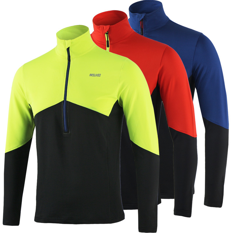 ARSUXEO Dry Fit Running Shirt Ανδρών Ποδηλασία Jersey - Ποδηλασία - Φωτογραφία 2