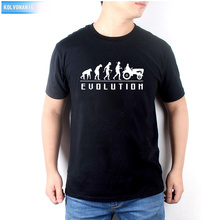New Summer Dress Fashion Evolution Tractor Printed T Shirt Mens Short Sleeve Cotton Farmer T-Shirt Tops Tee TO-66