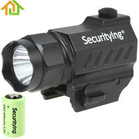 400LM SecurityIng LED Tactical Flashlight High Power Gun Mounted XP G R5 LED Flash Torch Light with 3.0V CR2 Battery