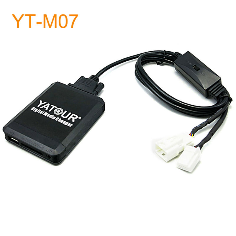 Yatour M07 Car MP3 USB SD CD Changer for iPod AUX with Optional Bluetooth for Toyota for Lexus for Scion for Daihastu Cars car usb sd aux adapter digital music changer mp3 converter for skoda octavia 2007 2011 fits select oem radios