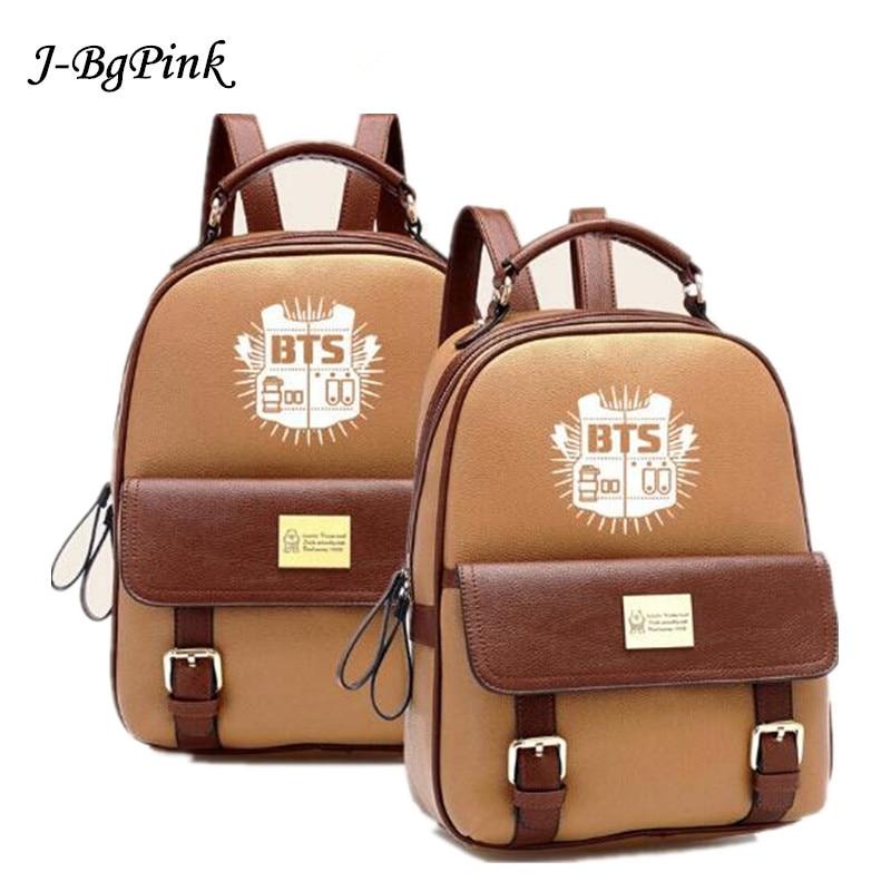 BTS mochila Backpack High Quality PU Schoolbag Korea Student Bags fashion Bangtan Boys Knapsack New Kpop Bag Star goods 2018 tvxq tohoshinki special live tour tistory in seoul photobook 100page release date 2015 05 29 korea kpop