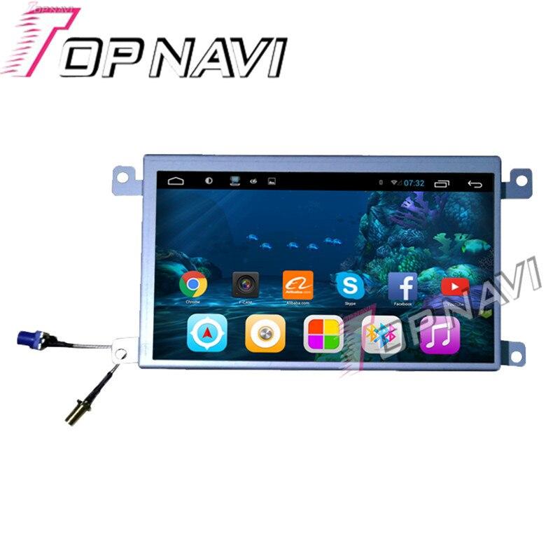 Topnavi Android 6.0 Voiture PC GPS Navigation pour Audi A6L (2007 2008 2009 2010 2011) Q7 (2006-2012 2013 2014 2015) Stéréo Radio 3G
