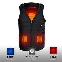 NEW Men Vest Usb Heating Vest Battery Camping Winter Thick Vest 3 Level Vest Black Hunting
