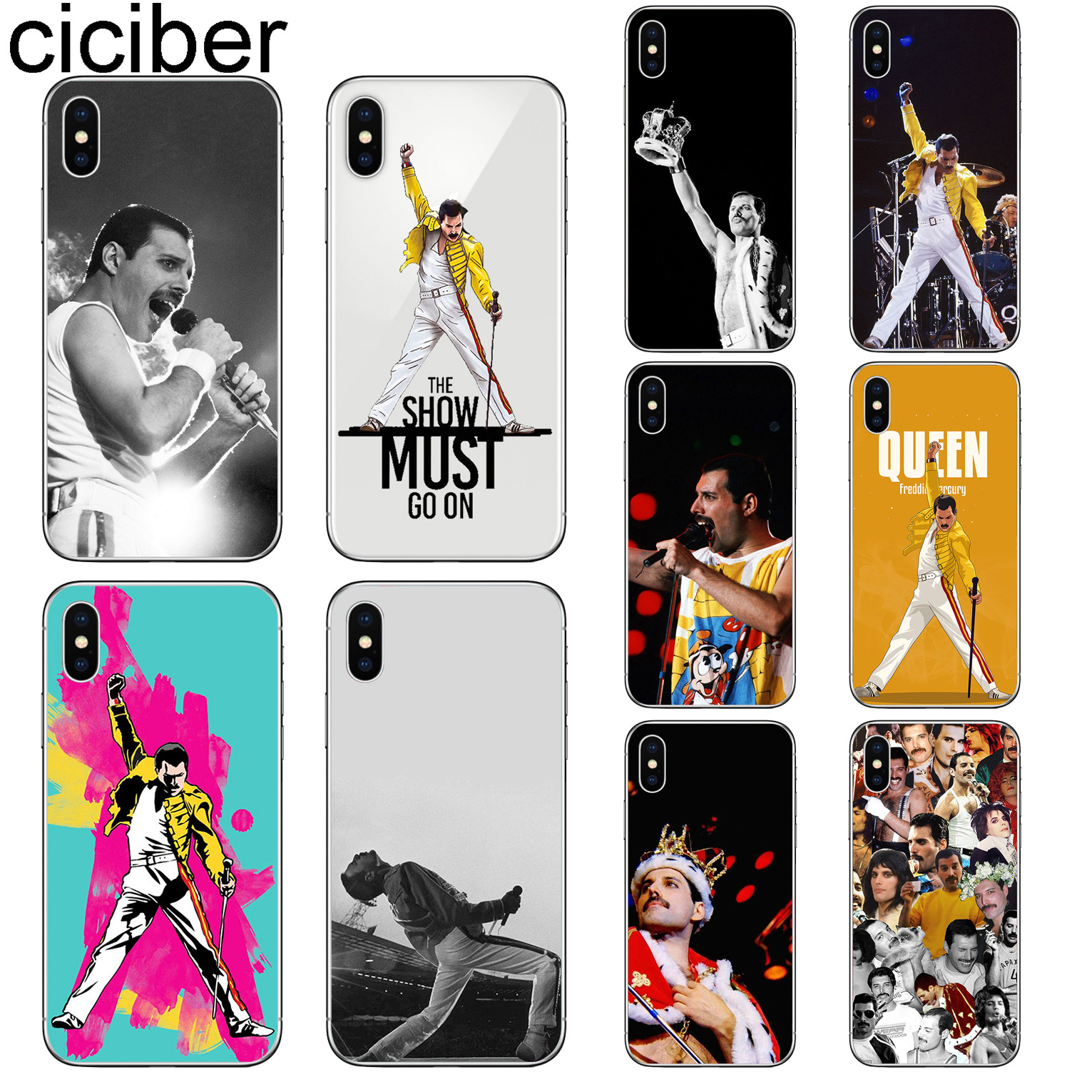 ciciber For Iphone 7 8 6 6S Plus 5S SE X XR XS MAX Soft Silicone Cover for iphone 11 Pro Max Phone Cases Freddie Mercury Fundas