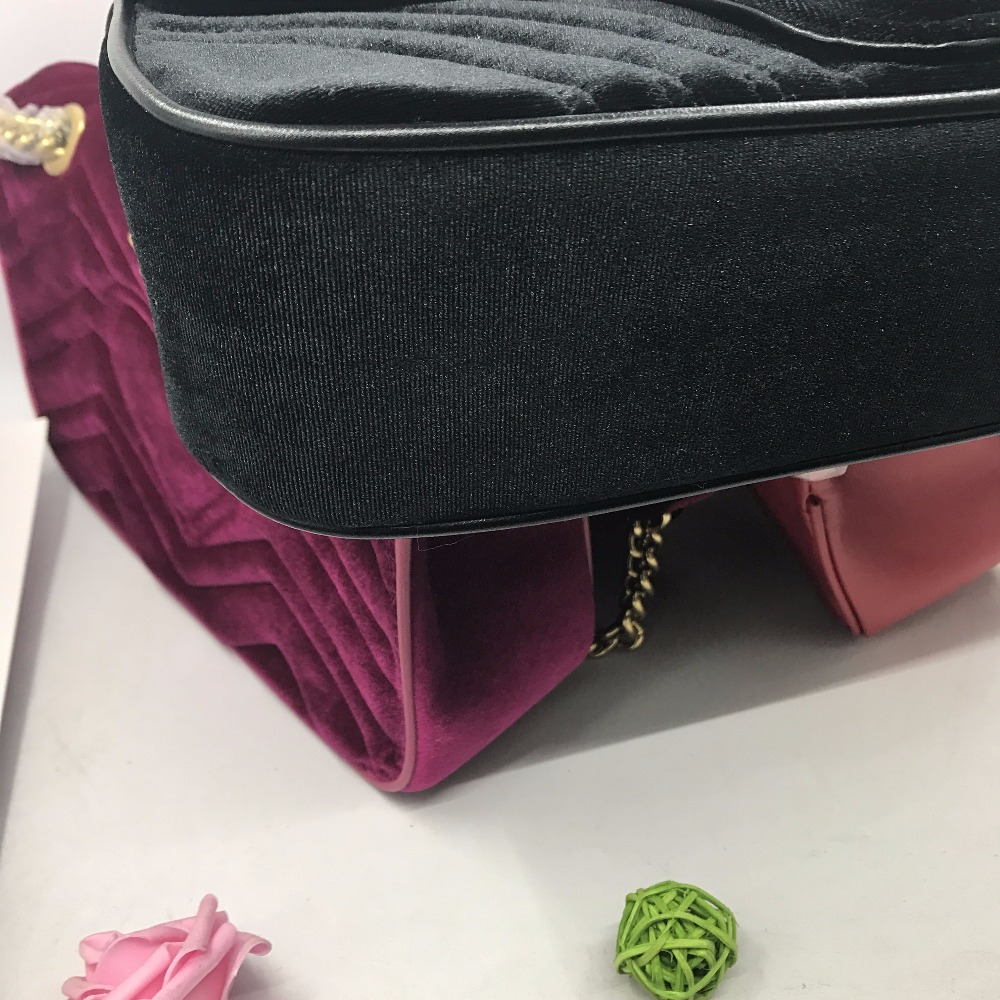 Classic Purple Velvet burgundy bag handbag shoulder bags Messenger bag High  Quality Women bags Gift black leather -in Shoulder Bags from Luggage   Bags  on ... be32936cf2463