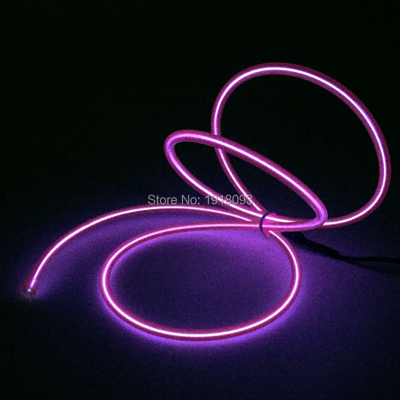 Electroluminescent wire EL wire rope cable Lighting Color Purple for Halloween Holiday Party Decoration