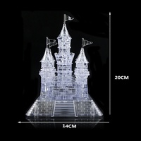 Original 3D Crystal Puzzle Deluxe Castle Clear Baby Birthday Christmas Present Toy 3D Puzzle